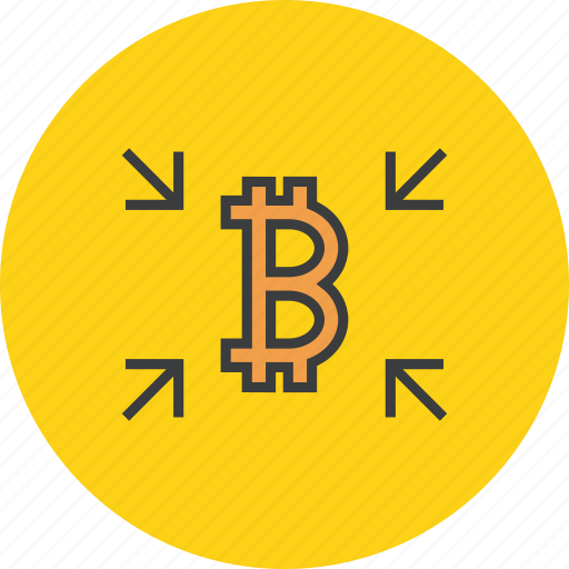 bitcoin, crowdfunding, digital, flow, receive, shopping, transaction icon