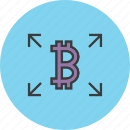 bitcoin, distribute, flow, online shopping, send, share, transfer icon