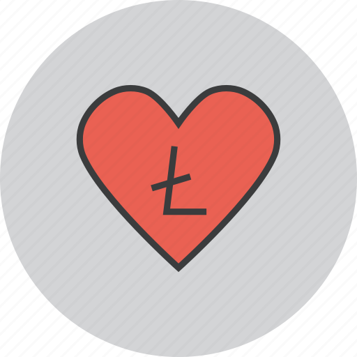 care, charity, donate, donation, litecoin, love, trust icon