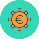banking, business, euro, financial, options, settings, trade icon