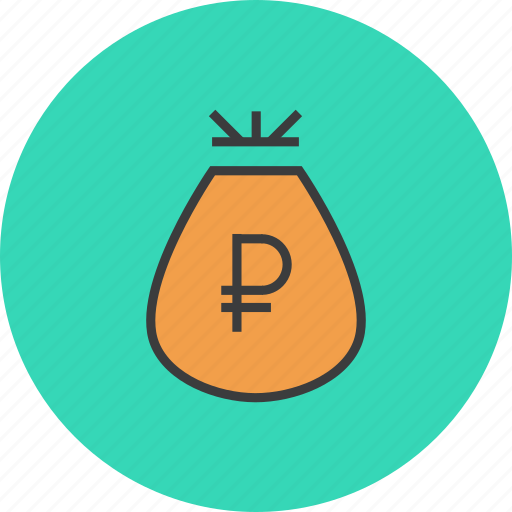 bag, business, funds, money, prize, reward, ruble icon