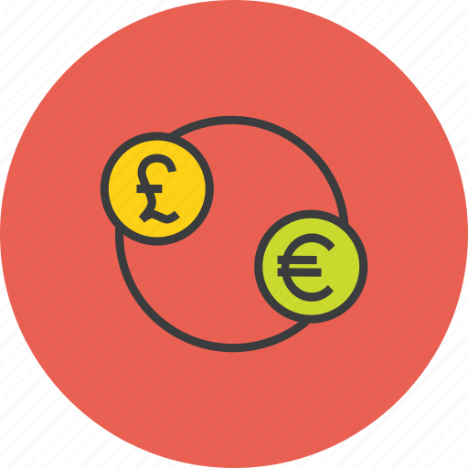 banking, currency, euro, exchange, finance, foreign, pound icon