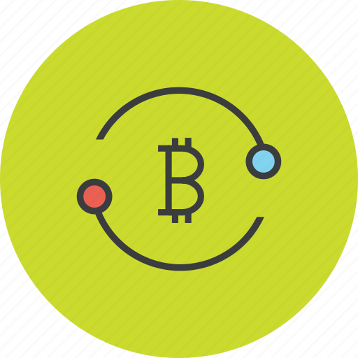 accounts, bitcoin, exchange, online, sync, transaction, transfer icon
