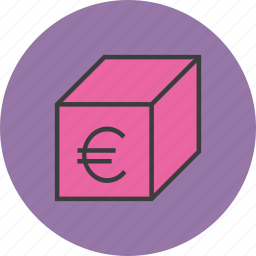 euro, offer, package, product, sale, shipping, shopping icon