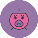 bank, banking, finance, guardar, piggy, save, savings, yen icon