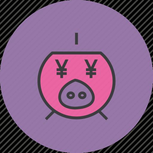 bank, banking, finance, guardar, piggy, save, savings, yen icon