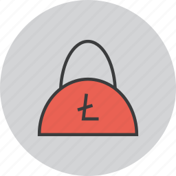 bag, balance, ecommerce, finance, litecoin, shopping, trade icon