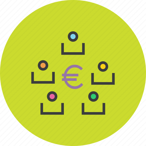 euro, exchange, funds, stakeholders, transaction, transfer icon
