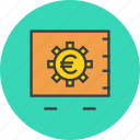 banking, locker, protection, safe, vault, bank, euro