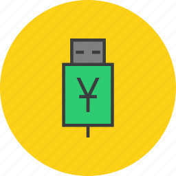account, banking, connect, recharge, transfer, usb, yuan icon