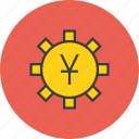 account, banking, currency, financial, options, settings, yuan icon