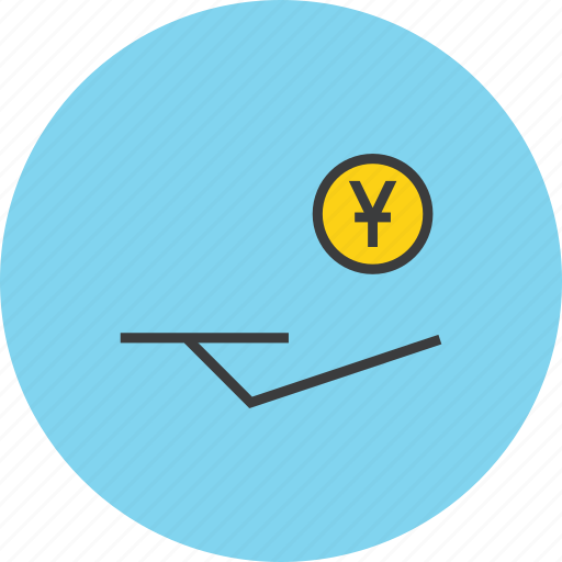 accept, charity, coin, donate, donation, trust, yuan icon