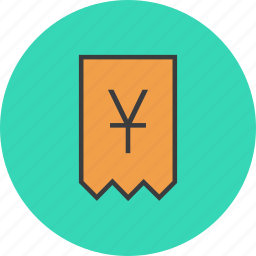 account, bill, invoice, shopping, statement, trade, yuan icon
