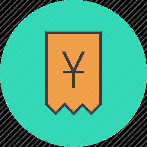account, bill, invoice, shopping, statement, trade, yuan icon