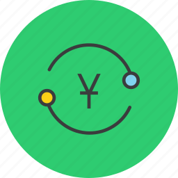 account, cycle, exchange, funds, transaction, transfer, yuan icon