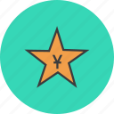 award, chinese, merit, price, reward, star, yuan icon