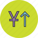 currency, finance, foreign exchange, increase, shares, value, yuan icon