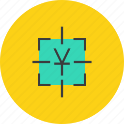 business, financial, focus, goal, sales, target, yuan icon