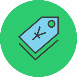 currency, price, sale, shopping, tag, trade, yuan icon