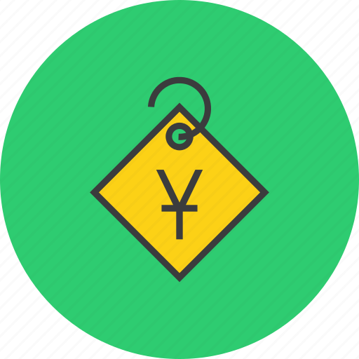 ecommerce, price, sale, shopping, tag, trade, yuan icon