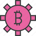 app, banking, bitcoin, business, options, settings, trade icon