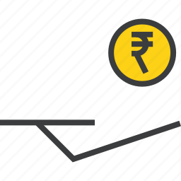 accept, banking, cash, coin, donation, funds, rupee icon