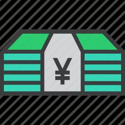 bundle, cash, currency, finance, funds, money, yen icon