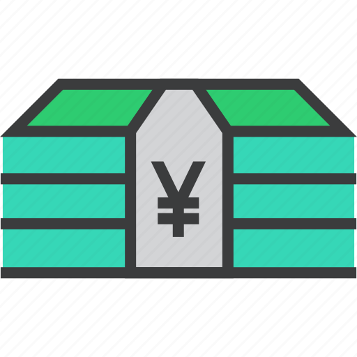 bundle, business, cash, currency, funds, money, yen icon