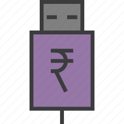 account, banking, charge, interest, recharge, rupee, usb icon