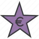 award, credit, euro, favorite, rate, reward, star icon