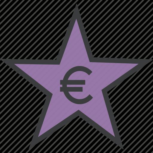 award, credit, euro, favorite, rate, reward, star icon