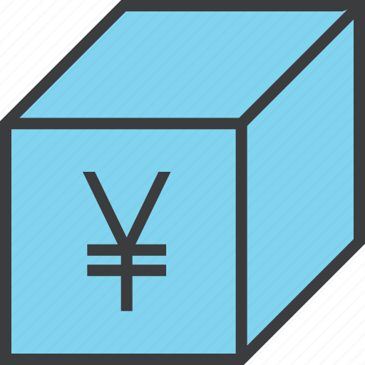 delivery, offer, package, product, sale, shopping, yen icon