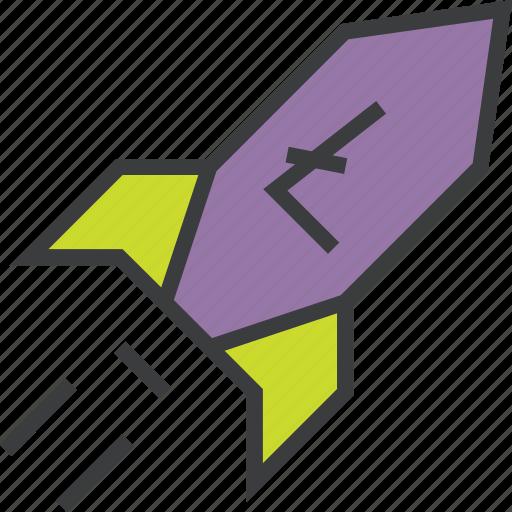 digital currency, increase, litecoin, profit, rocket, sales, usage icon