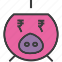 bank, banking, finance, piggy, rupee, save, savings icon