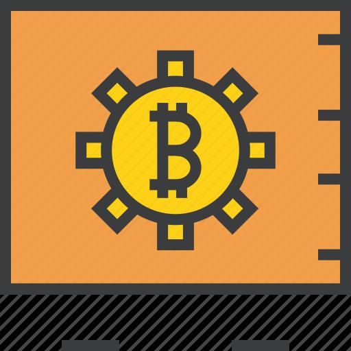 bitcoin, digital, locker, online, safe, storage, vault icon