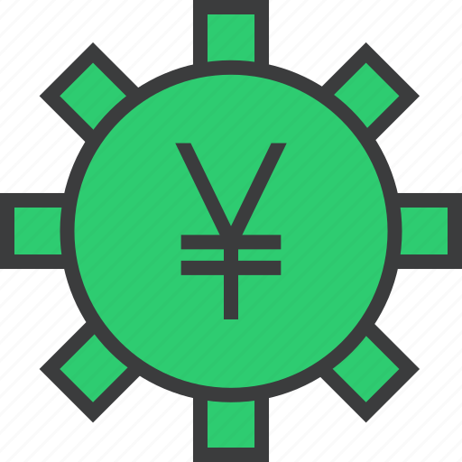 banking, business, financial, options, settings, trade, yen icon
