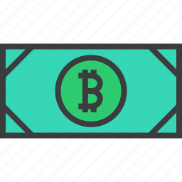 bitcoin, cash, currency, digital, electronic, money, online icon