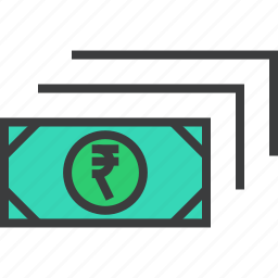 business, cash, currency, finance, money, rupee, trade icon