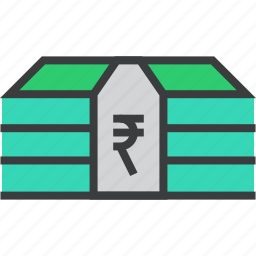 business, cash, finance, funds, money, rupee, trade icon