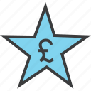 award, credit, favorite, pound, rate, reward, star icon