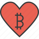 bitcoin, charity, donate, donation, love, online, trust icon