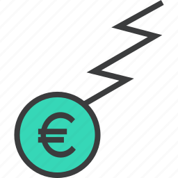 business, charge, euro, finance, flow, funds, trade icon