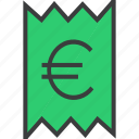 account, bill, business, euro, invoice, statement, trade icon