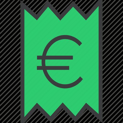 account, bill, business, euro, invoice, statement, trade icon