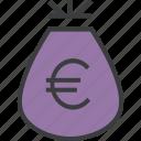 bag, business, cash, euro, finance, funds, money