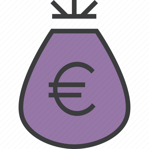 bag, business, cash, euro, finance, funds, money icon