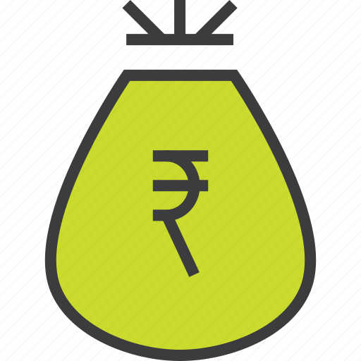 bag, business, cash, money, reward, rupee, trade icon