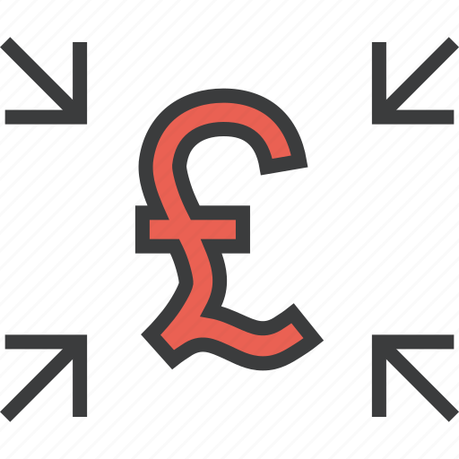 arrow, cash, get, pound, receive, share, transfer icon