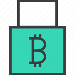 account, bitcoin, disable, lock, password, protection, shopping icon