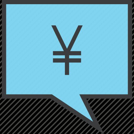 alert, banking, message, mobile, notification, transaction, yen icon